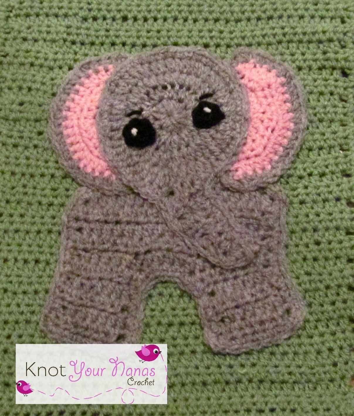 Elephant Appliqueol Crafts Pinterest Crochet Elephant