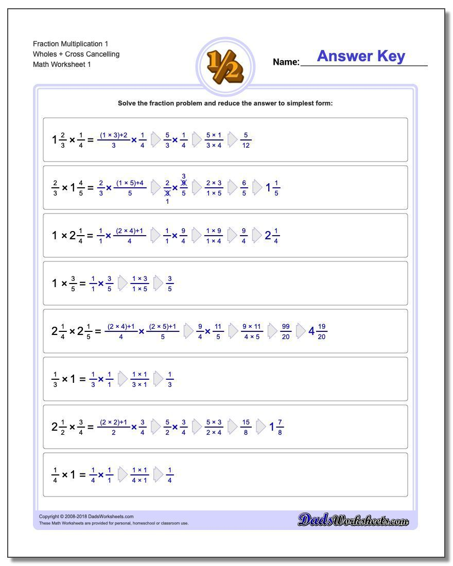 Learning How To Solve Fraction Problems Requires Mastering A Number Of Skills These Free Fr Fractions Worksheets Fractions Division Fractions Multiplication