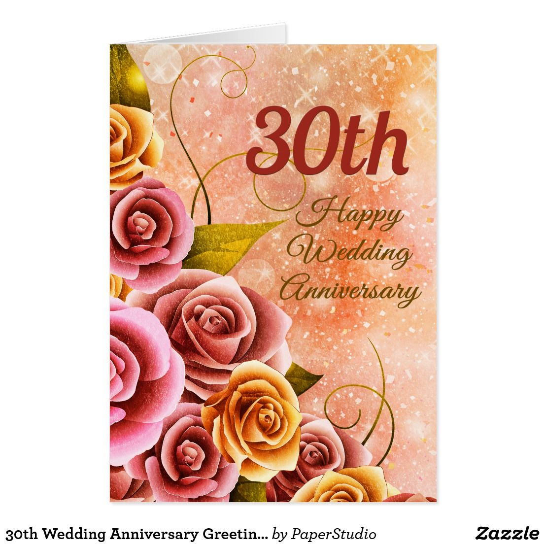 30th Wedding Anniversary Greeting Card Celebrations Cards
