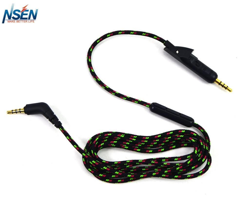 1 2m Replacement Audio Upgrade Cable With Mic For Bose Quietcomfort 15 Qc15 And Bose Quietcomfort 2 Qc2 Headphones Headphones Audio Portable Audio