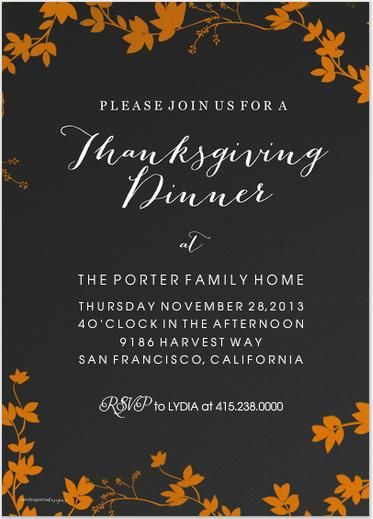 Thanksgiving Invitations Invitation Wording For Your Dinner Party