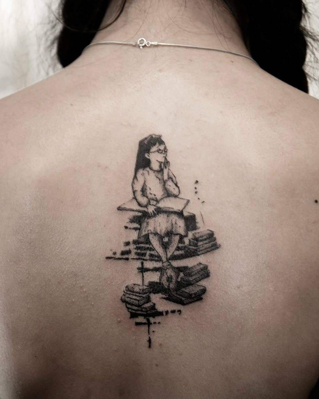 Book Lover Tattoo On Back Book Lover Tattoo Book Tattoo Tattoos