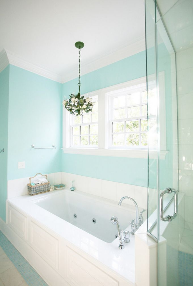 House Of Turquoise Echelon Custom Homes Tiffany Blue Bathrooms