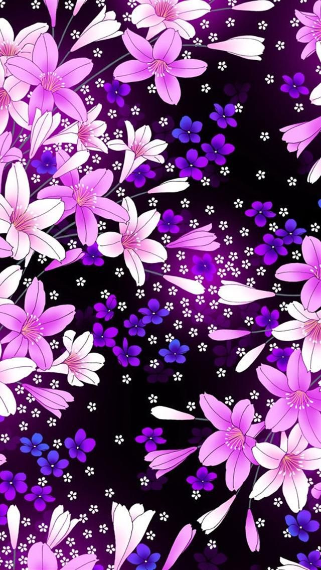 Pink Purple Flowers From IPhone5wallpapers