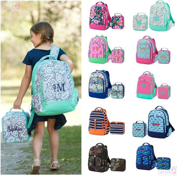 f2c29b556e Etsy Monogrammed Matching Backpack   Lunchbox Set Girls Boys Kids  Personalized Bookbag Lunch Bag Paisley