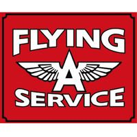 Large Flying A Service Metal Sign