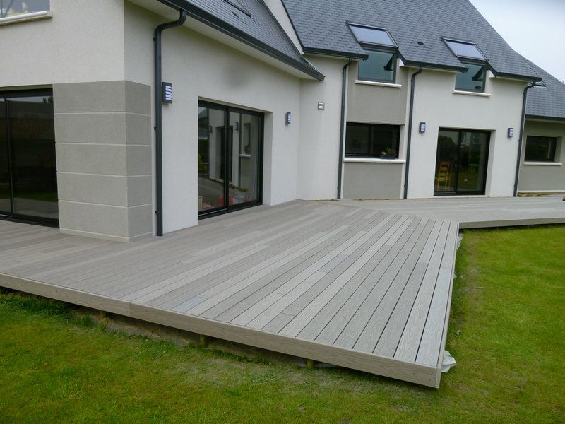 terrasse composite gris 1 Patio Pinterest Decking, Backyard