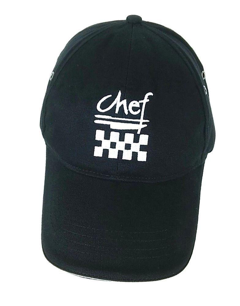 551d3e4ed Chef Revival Baseball Cap Unisex Embroidered Black Strap/Buckle ...