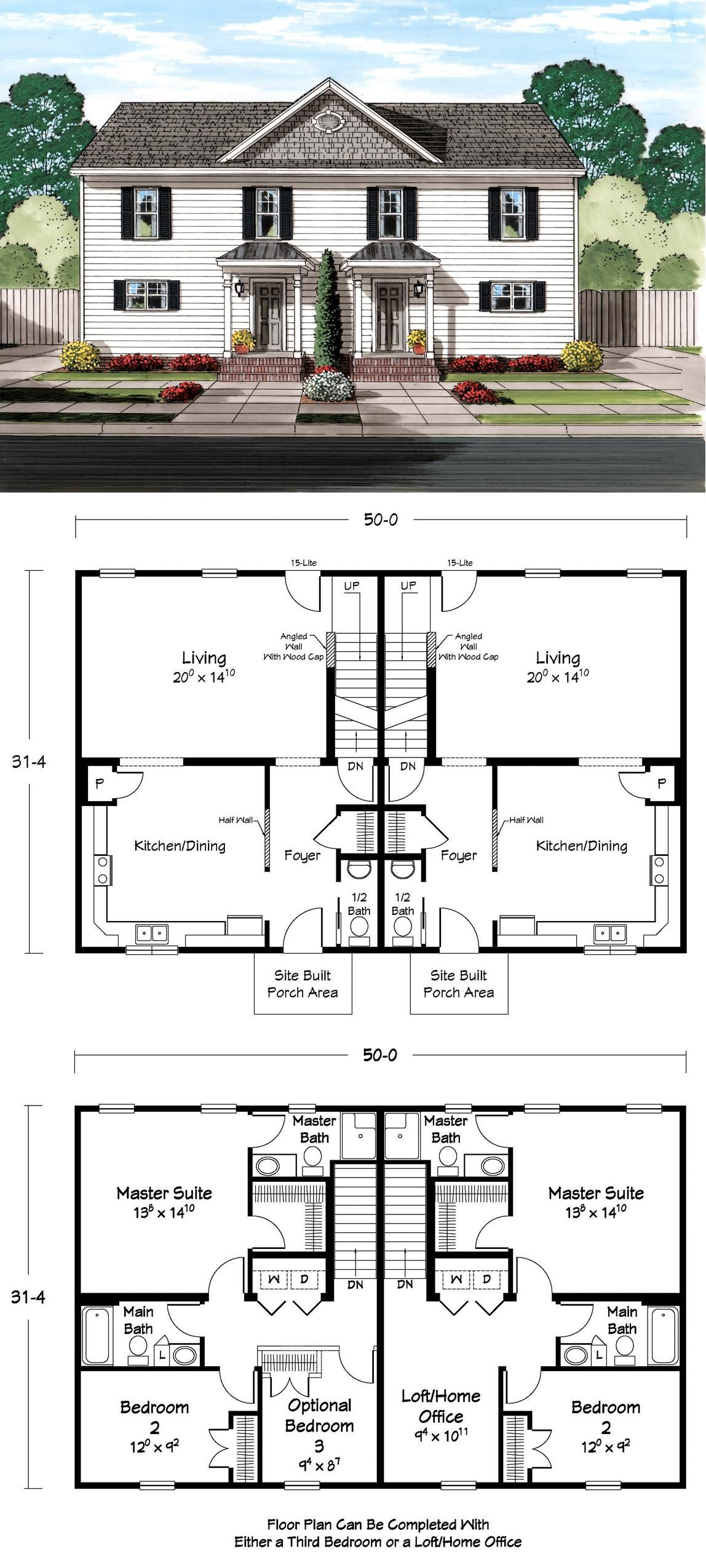 Great Duplex Floor Plan Duplex Floor Plans Family House Plans Duplex Plans
