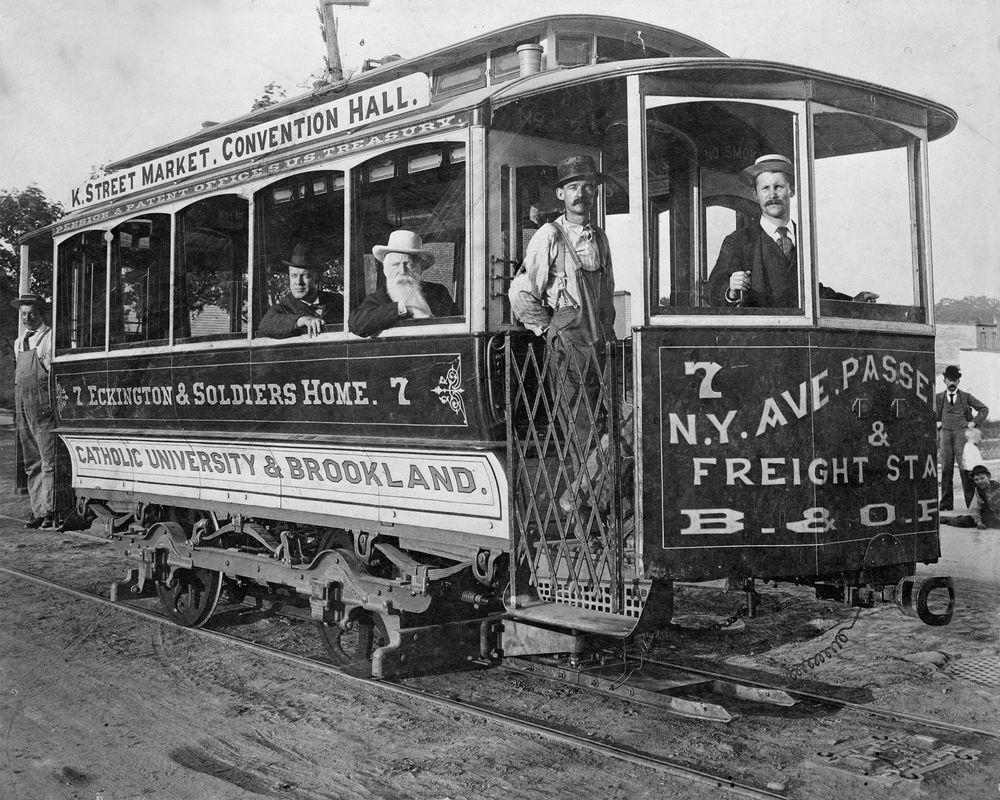 1890 Photograph, Cable, Street Car, Vintage, Old, antique