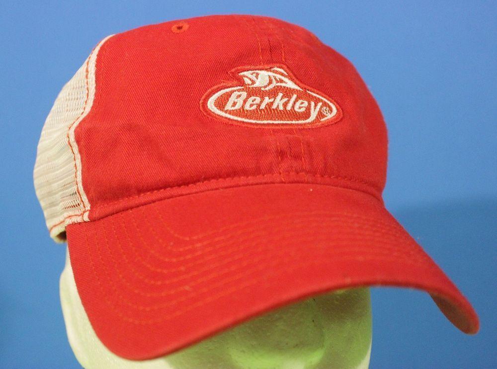 f4a8f9ccda5 Berkley Fishing Hat Cap Snapback Mesh Adjustable Red White NWT Catch More  Fish…  berkleyfishing