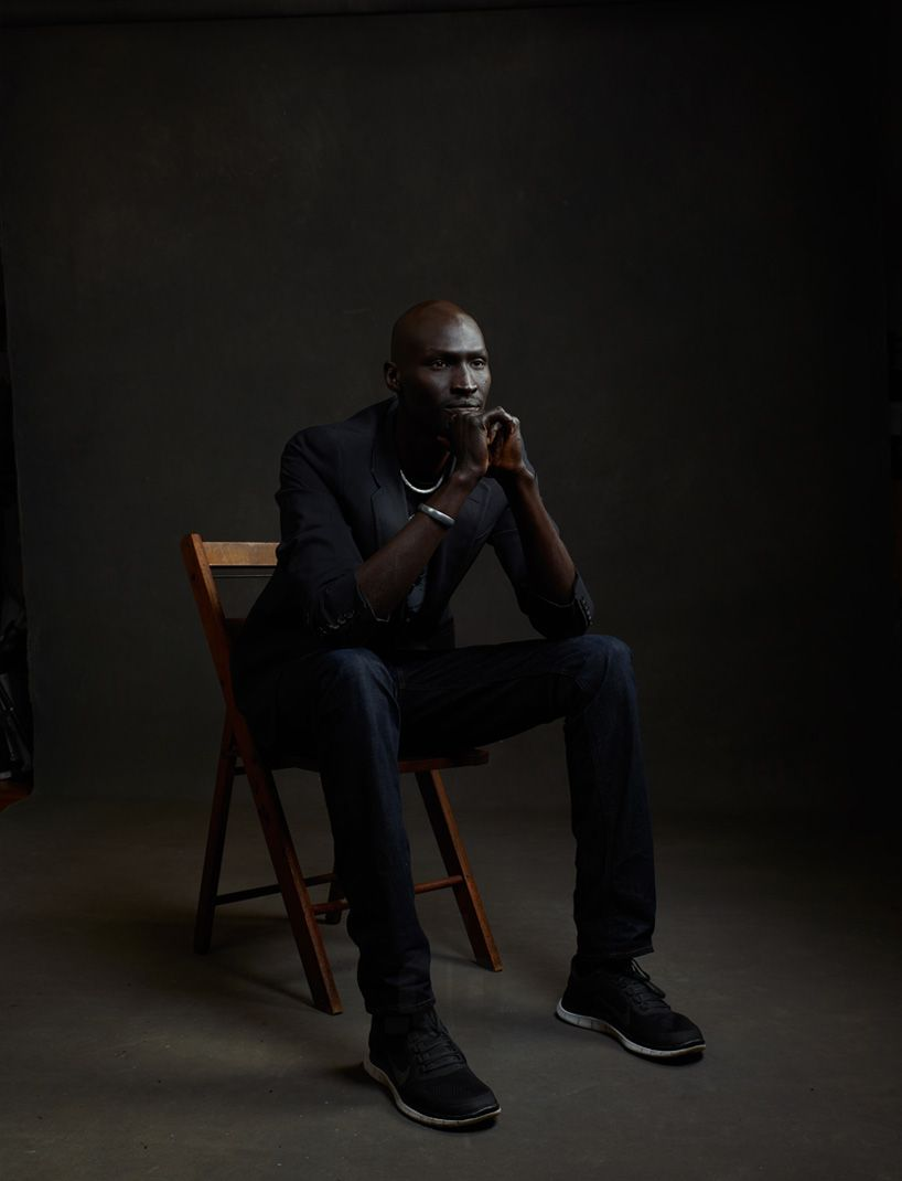ger duany, a former child soldier from south sudan turned celebrity, campaigns against violence in 'our side of the story' by mike mellia