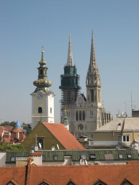 Church Of St Catherine S Ahead Behind The Cathedral Of The Assumption Of Mary Zagreb Croatia