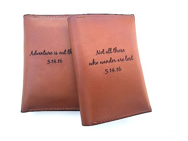 74317ede0b6e Anniversary Gift - Personalized Passport Holder Quote, Couple Gift ...