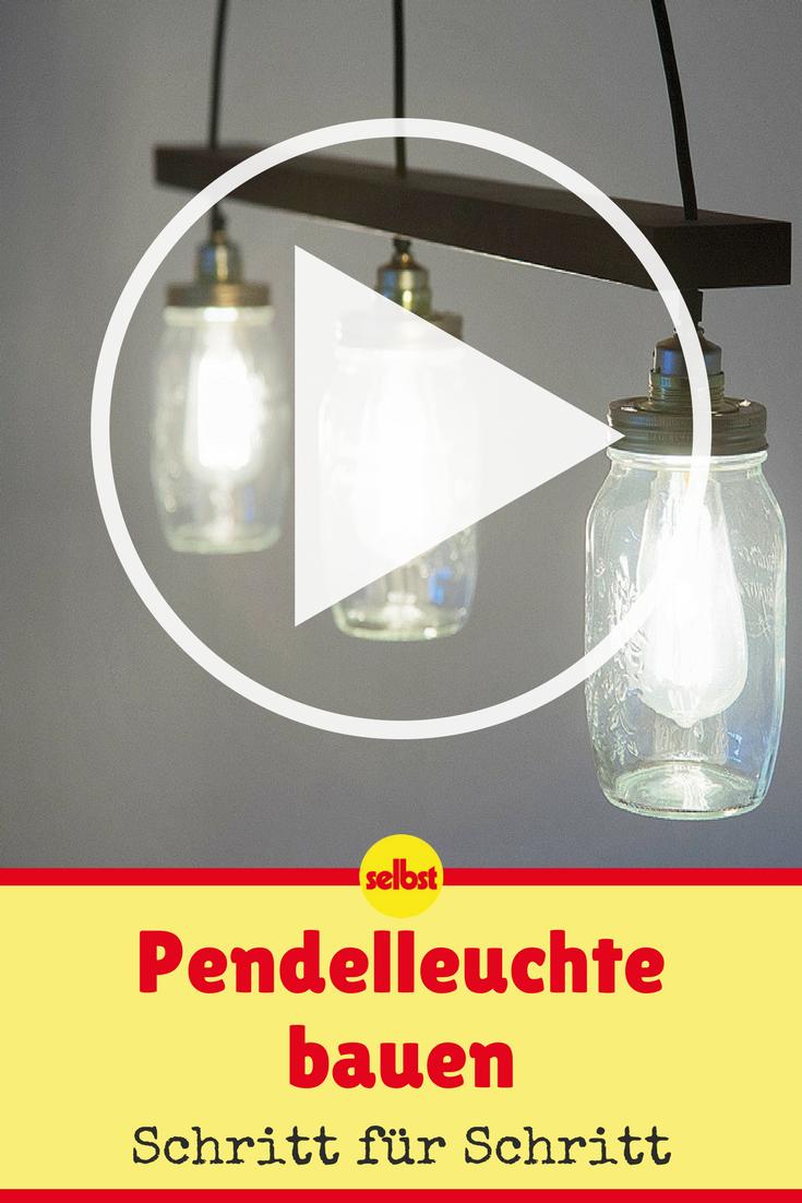 pendelleuchte selber bauen | video-anleitungen | pinterest | lampen