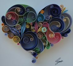 Quilled Paper Art: Love is All Around on Etsy, $45.00