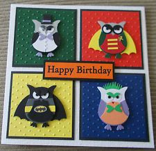 Stampin up owl punch super hero hand made birthday card batman stampin up owl punch super hero hand made birthday card batman joker robin bookmarktalkfo Gallery