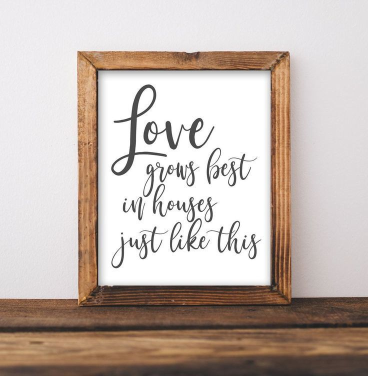Love Grows Best - Printable | room decor in 2019 | Home ...
