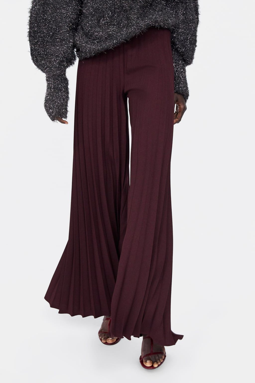 67c0f5e158b Pleated wide leg pants in 2019 | Style | Palazzo trousers, Pants ...