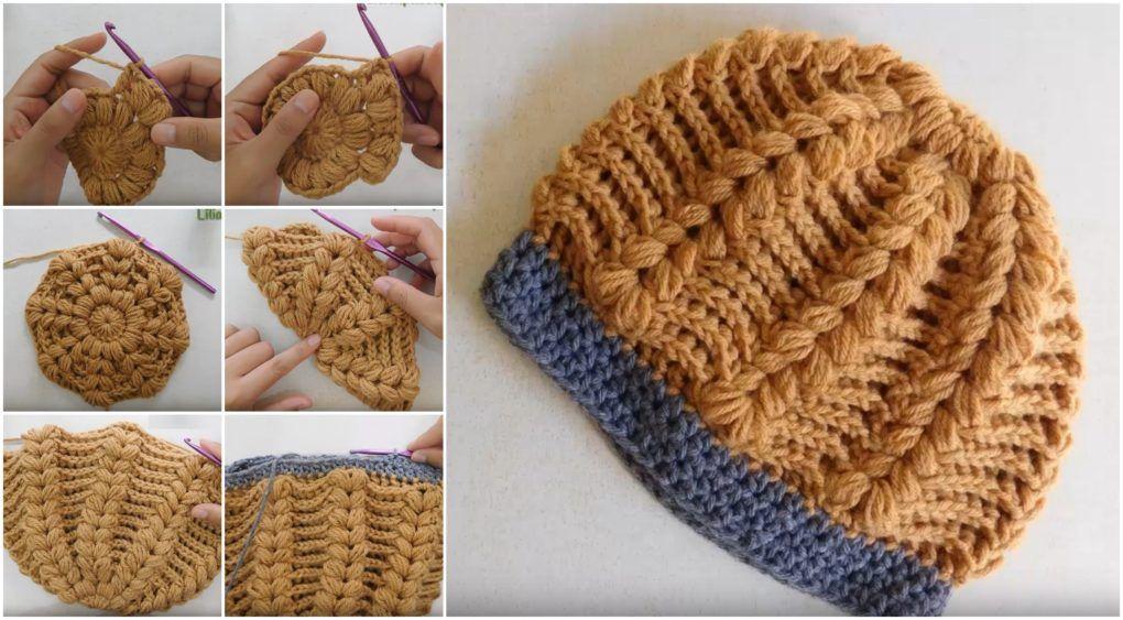 Puff Stitch Hat Crochet Tutorial Craft Addicts Croetat