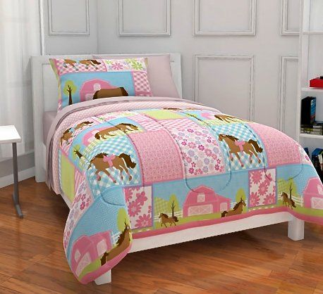 Pony Dream Twin Girls Comforter Set (5 Piece Bedding Set) Horse Polka Dot Girls Bedding http://www.amazon.com/dp/B00M0ET7US/ref=cm_sw_r_pi_dp_oIFiub13HGHGV
