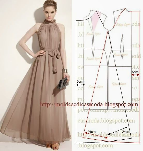 Halter dress that flows. | Dresses | Pinterest | Molde, Vestiditos y ...