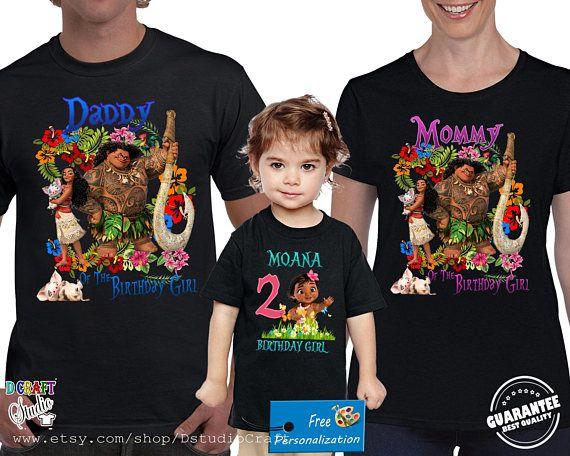 bd1b2f52 Moana birthday Shirt for Family, Personalized birthday Moana shirt ...