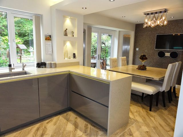 Diane Berry Kitchens - Client Kitchens: Mr & Mrs Hampson - Alno highline beige grey lacquered kitchen