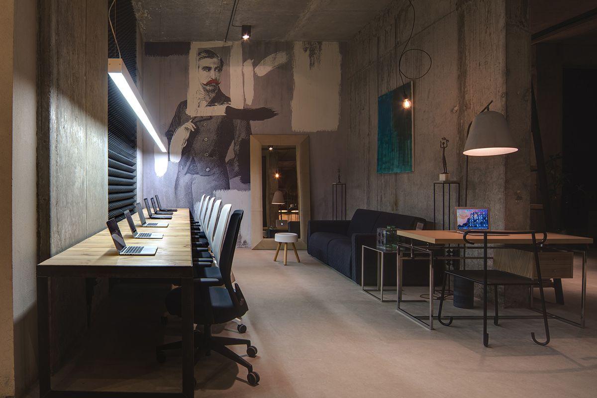 A Modern Office Space That Looks Like An Urban Loft Workspace