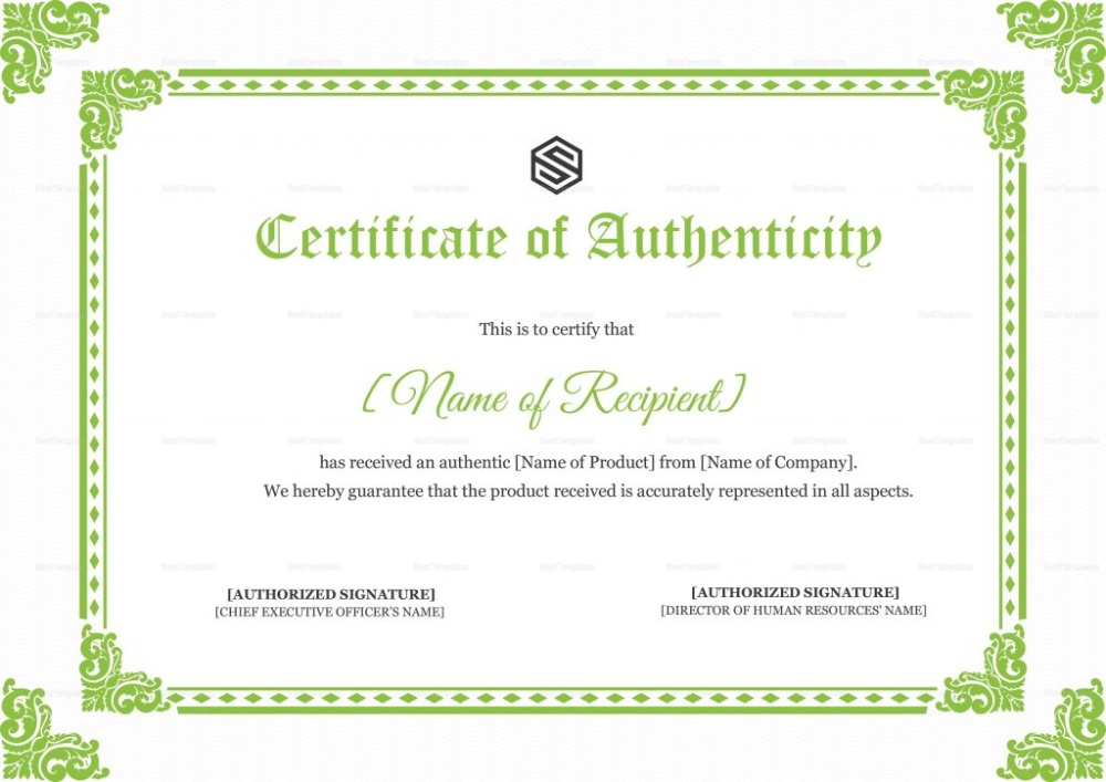 Certificate Of Authenticity Design Template In Psd Word Throughout Certificate Of Authenticity Template Certificate Design Template Design Template Templates