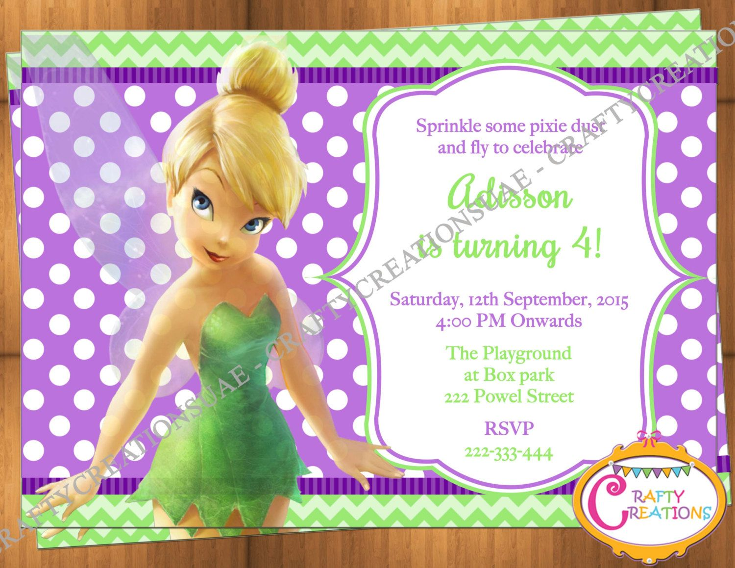 Tinkerbell Party Invitations samples of birthday invitation cards – Tinkerbell Party Invitation