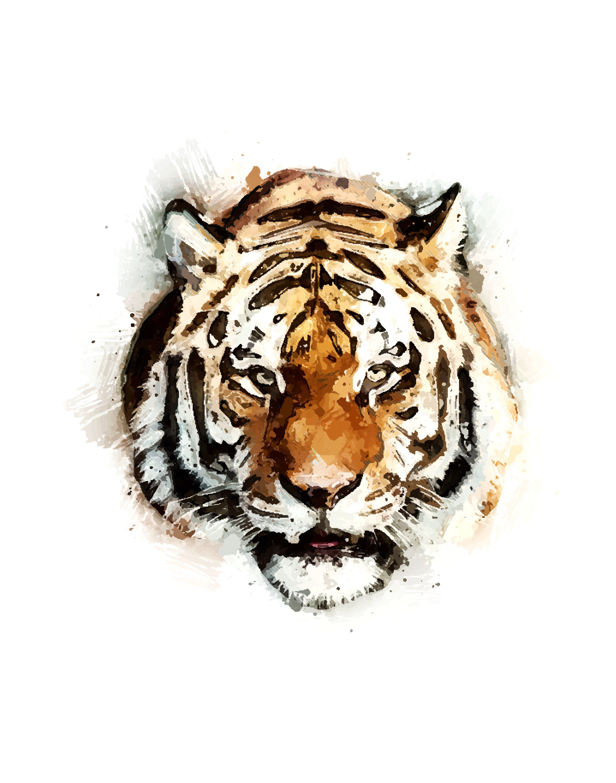Animal decor tiger wall art modern art painting poster