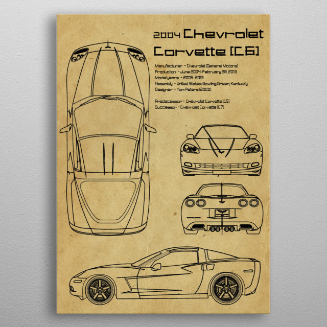 2004 Chevrolet by FARKI15 DESIGN | metal posters - Displate | Displate thumbnail