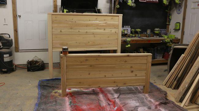 How To Make A Bed Frame Free Bed Frame Plans Diy เต ยงนอน