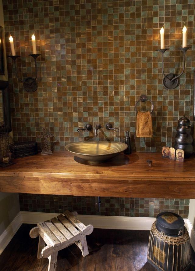 Waschtisch Holz Rustikal waschtisch holz metall aufsatzwaschbecken rustikales design
