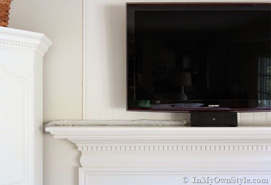 How To Hide the Cords on a Flat Screen TV | Cord, TVs and Wall colors