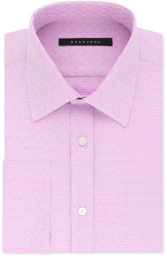 Clothing, Shoes & Accessories Straightforward Hugo Boss Mens Grey Striped Slim Fit Strech Btn Up Dress Shirt Sz 16.5