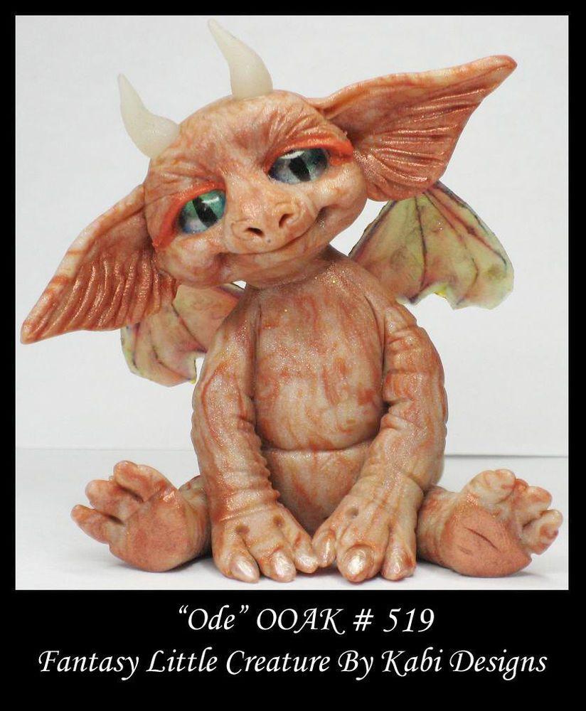 Fantasy Little Dragon DollHouse Art Doll Polymer Clay CDHM OOAK IADR Ode Mini