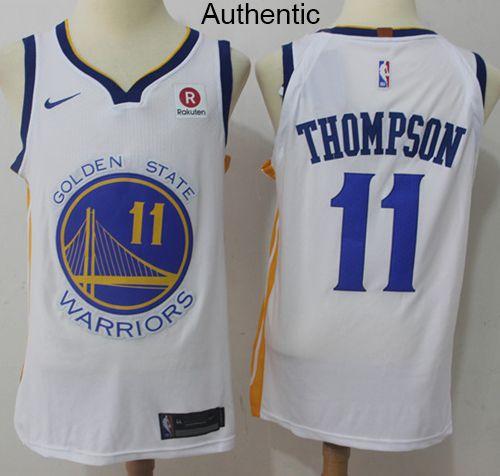 Nike Warriors  11 Klay Thompson White NBA Authentic Association Edition  Jersey 06feff297