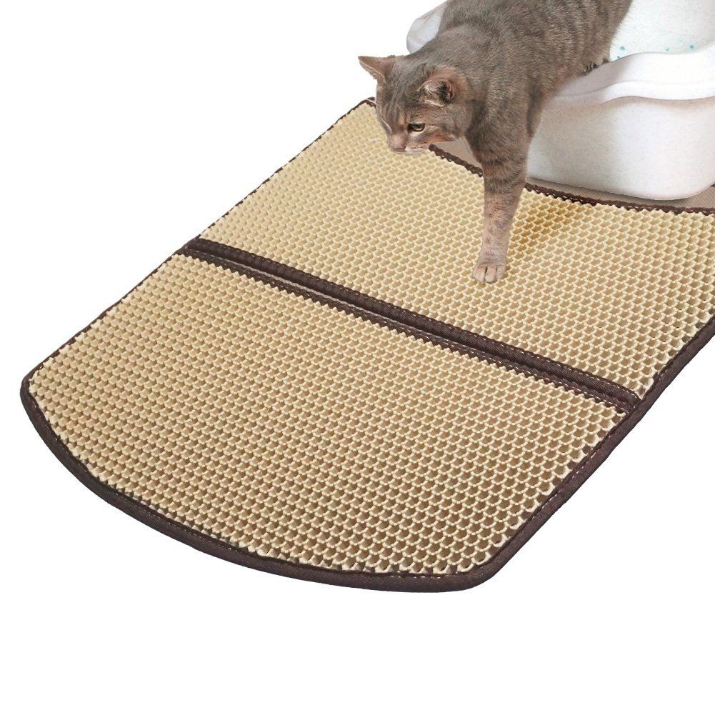 Amazon Com Woopet Cat Litter Mat Large Beige 24 X 22