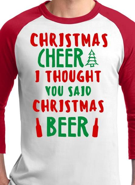 b5e4fba8 Christmas beer holiday t-shirt. Personalize online. | Christmas T ...