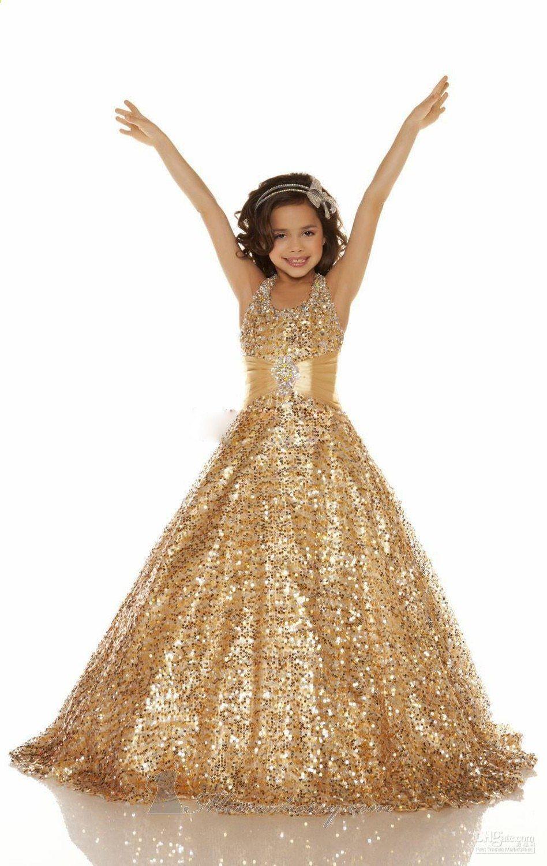 gouden meisjes jurk