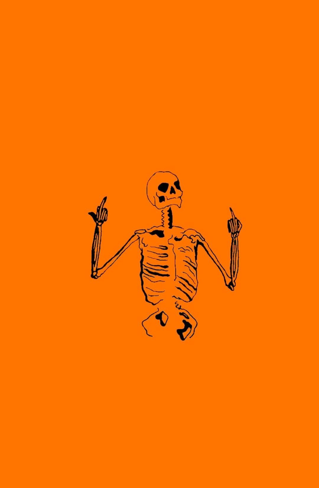 Halloween 2020 Lockscreen Halloween Skeleton Phone Background Themed Wallpaper In Pin By