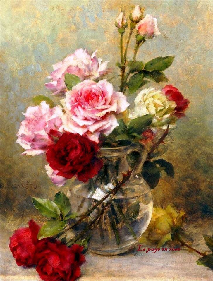 Garden Roses Flower Painting Floral Painting Art Painting Oil