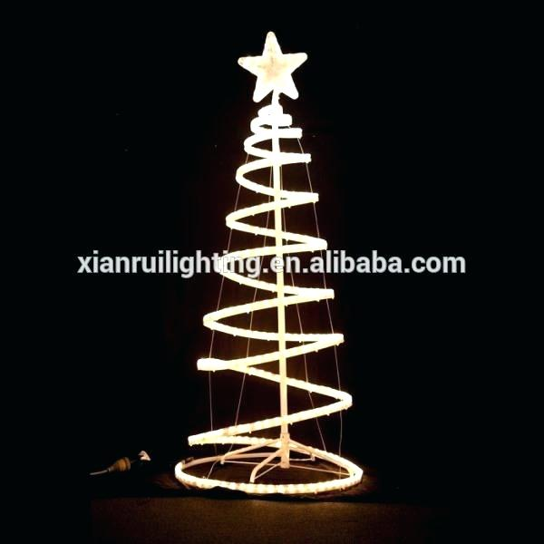 Spiral Rope Light Christmas Tree Led Spiral Rope Tree Tree Spiral