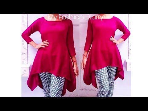 bfa156f8f8f How to make trendy leganlook tunic top , pattern , cutting & stitching -  YouTube