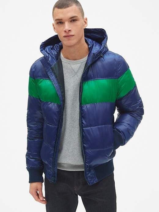 Heavyweight Colorblock Hooded Puffer Jacket | Jungs, Jacken