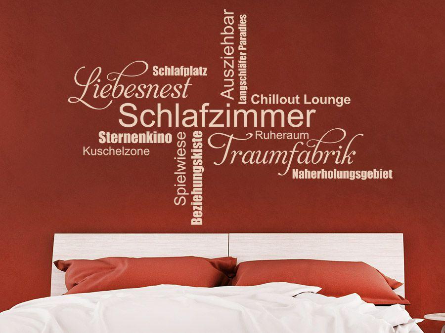 Wandtattoo Moderne Schlafzimmer Begriffe | Wandtattoo schlafzimmer ...