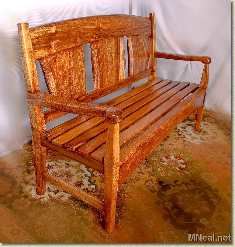 Beautiful Koa Wood Bench.