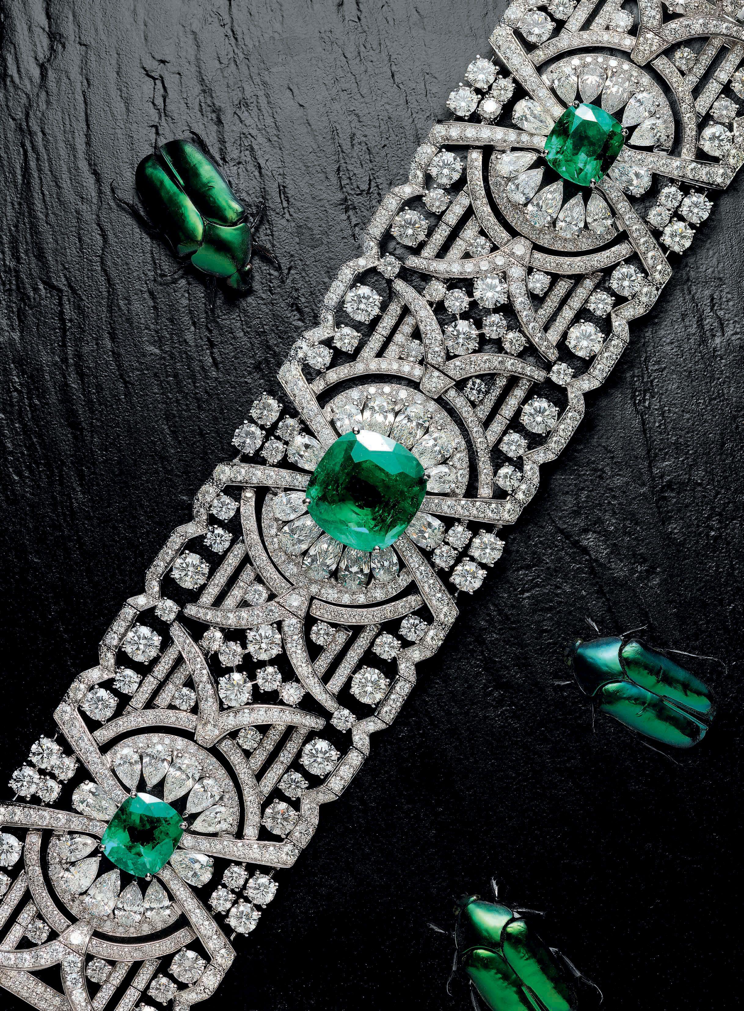 Natural beauty graffus sensational new emerald and diamond